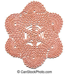 Hand made crocheted doily.