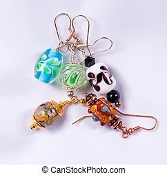 Hand made earrings - Bead designed earrings made as a hobby...