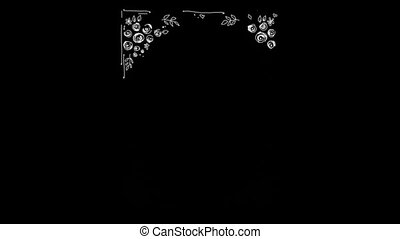 Hand-made Floral Frames On Alpha Channel