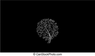 Hand-made Floral Pattern On Alpha Channel