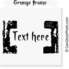 Hand made grunge frame for text.