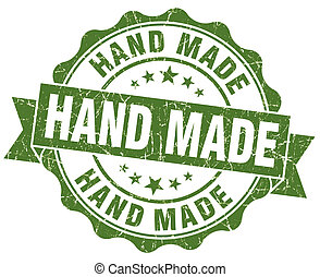 hand made grunge green stamp