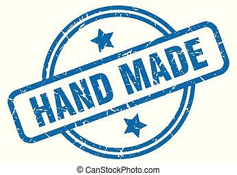 hand made grunge stamp - hand made round vintage grunge...