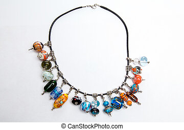 Hand made jewelry with glass beads