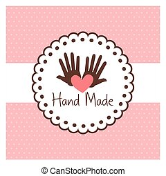 Hand Made label, handmade crafts workshop