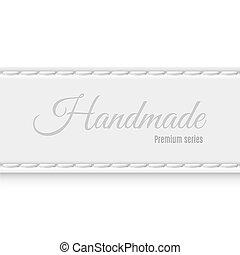 Hand made - Label premium series of gray fabric handmade