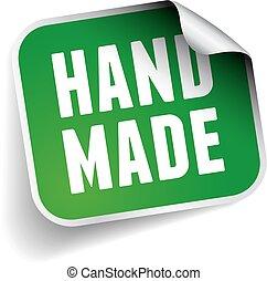 Hand made label sticker