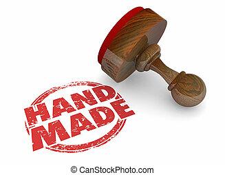 Hand-Made Original Craft Work Product Word Stamp 3d Illustration