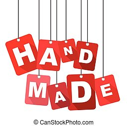 hand made, red vector hand made, flat vector hand made, background hand made