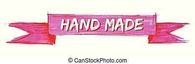 hand made ribbon - hand made hand painted ribbon sign