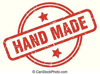 hand made round grunge isolated stamp