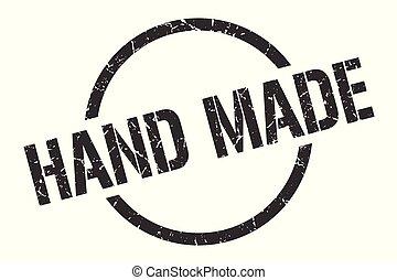 hand made stamp - hand made black round stamp