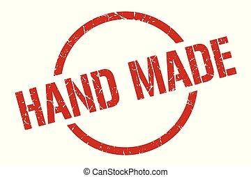 hand made stamp - hand made red round stamp