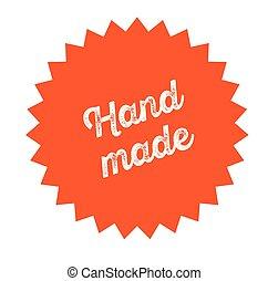 hand made stamp on white
