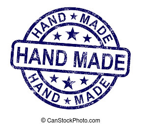 Hand Made Stamp Shows Original Handmade Artwork - Hand Made ...