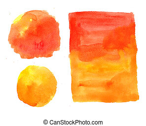 Watercolor Yellow-Orange Painted Background
