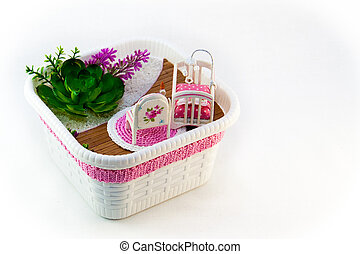 Hand Maid, a hobby pink toy room with a cot for baby
