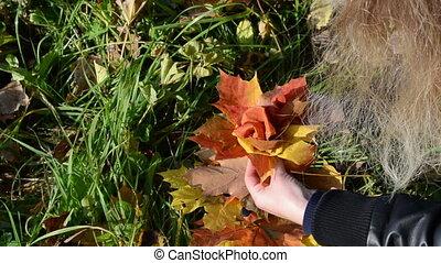 hand make flower leaf