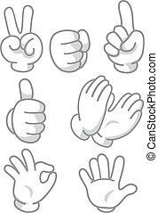 Hand Mascot Signs