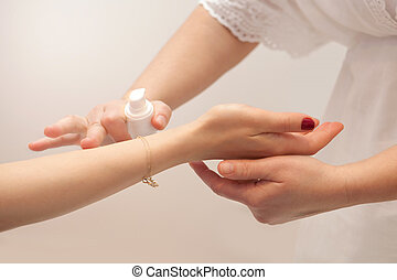 Hand massage with nourishing oils