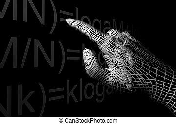 hand mathemathics - cyber hand mathemathics 3d abstract