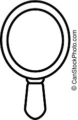 Hand Mirror Icon Outline Style