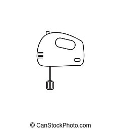 hand mixer line icon, outline vector sign