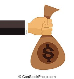 Hand money to other Set Vector illustration