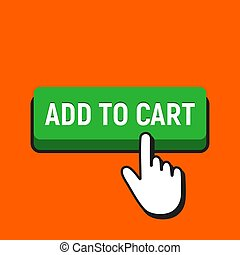 Hand Mouse Cursor Clicks the Add to Cart Button.