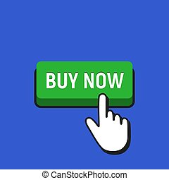 Hand Mouse Cursor Clicks the Buy Now Button.