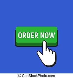 Hand Mouse Cursor Clicks the Order Now Button.