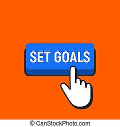 Hand Mouse Cursor Clicks the Set Goals Button.
