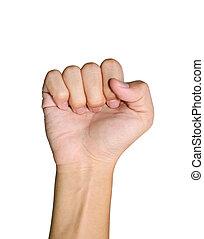 hand, näve, isolerat