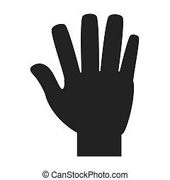 hand number four sign icon, vector illustration