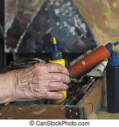 Hand Of Artist