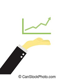 hand of business man with graph