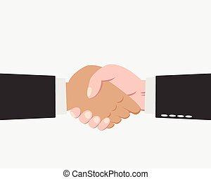 Hand of Businessman making handshake