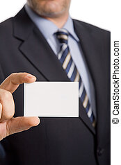 businesscard - hand of businessman offering businesscard on ...