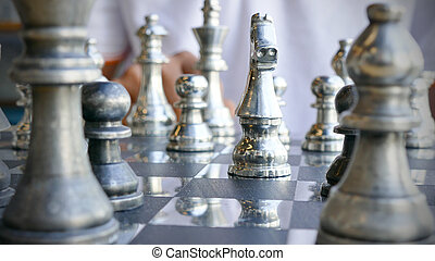 Hand of chess player