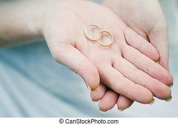 Hand of the groom - wedding