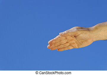 hand of the man