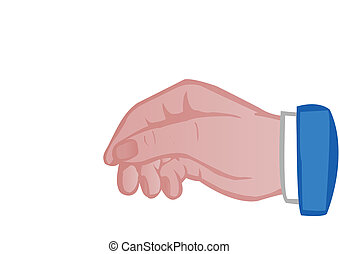 Hand of the person isolated on white background