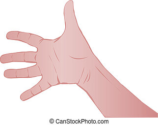 Hand of the person
