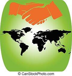hand of the world illustration