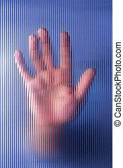 Hand on Glass