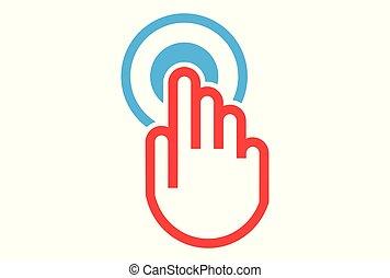 hand on off start logo