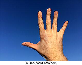 Hand on the Sky