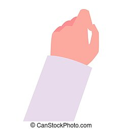 hand on white background icon