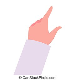 hand on white background icon