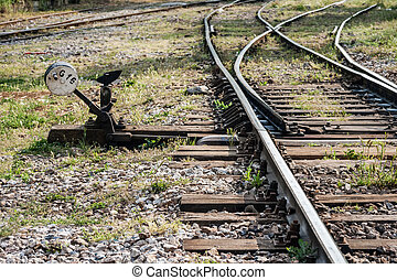 Hand Operated Railroad Switch Near Haydarpasa - Hand...